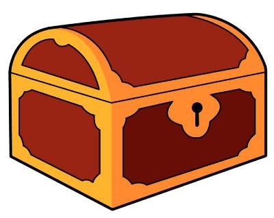 Treasure Chest Logo for Grove's Treasure Trove